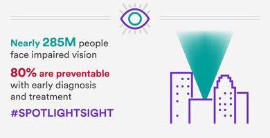 Johnson & Johnson Vision ci incoraggia a puntare i riflettori sulla Giornata mondiale della vista con l'hashtag #spotlightsight